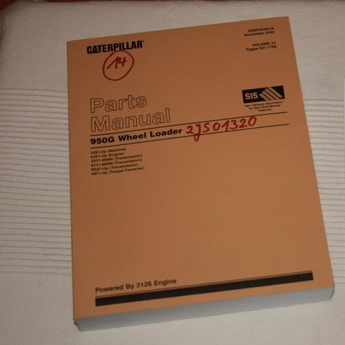 CAT 950G parts manual catalog for sale here SEBP2529