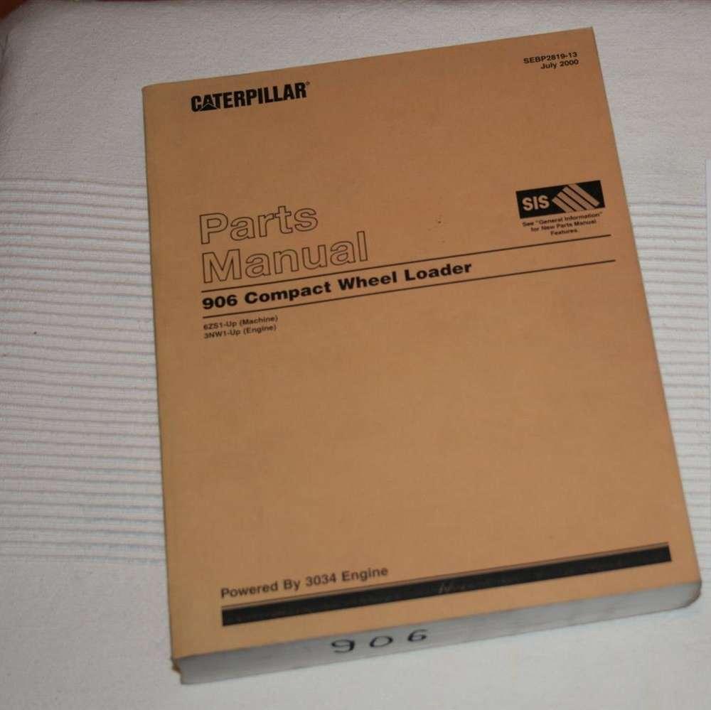 CAT 906 parts manual catalog wheel loader Caterpillar SEBP2819