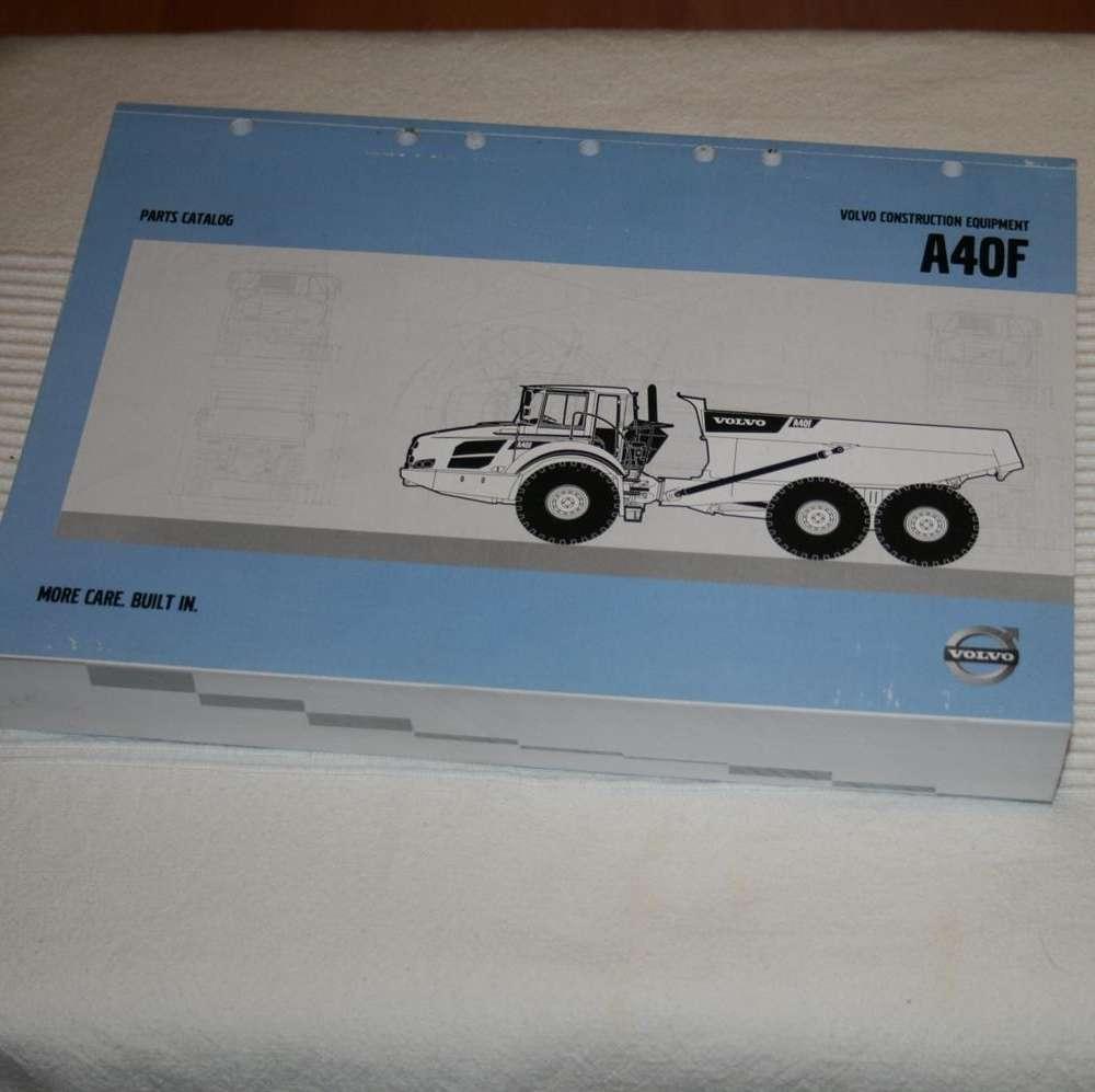 Volvo A40F parts catalog articulated dump truck piezas recambios
